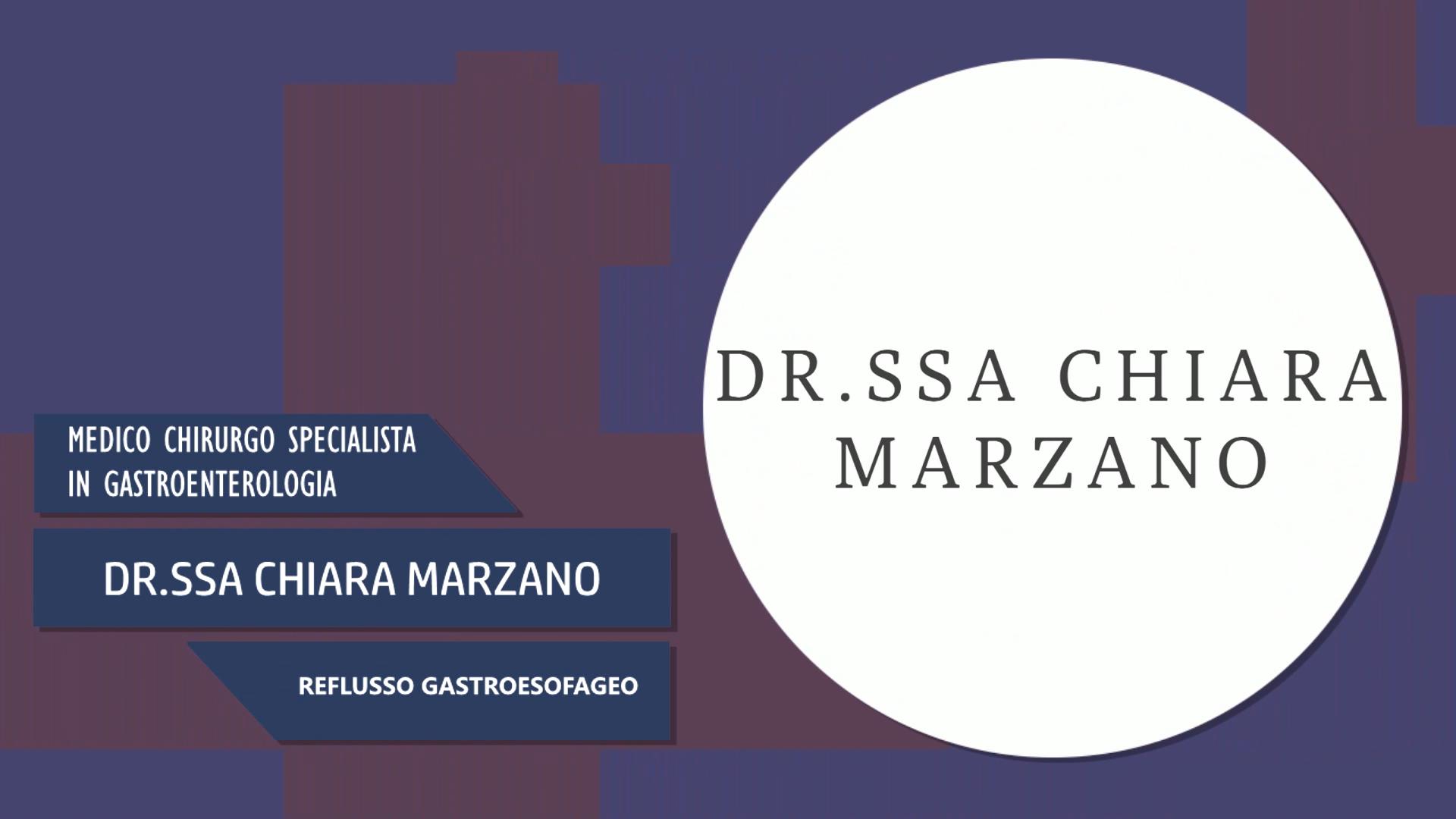Dott.ssa Chiara Marzano – Reflusso Gastroesofageo