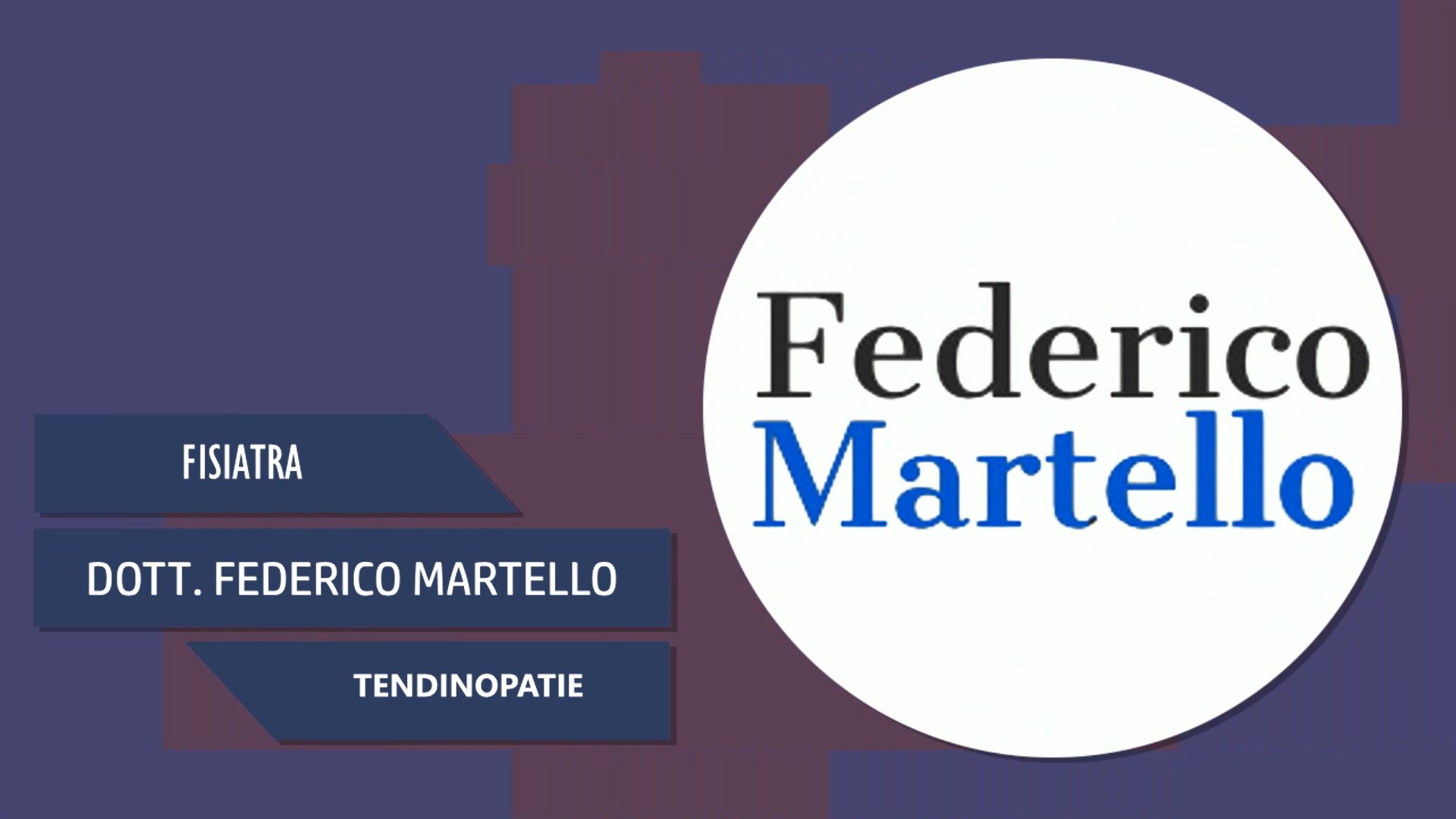 Intervista al Dott. Federico Martello – Tendinopatie