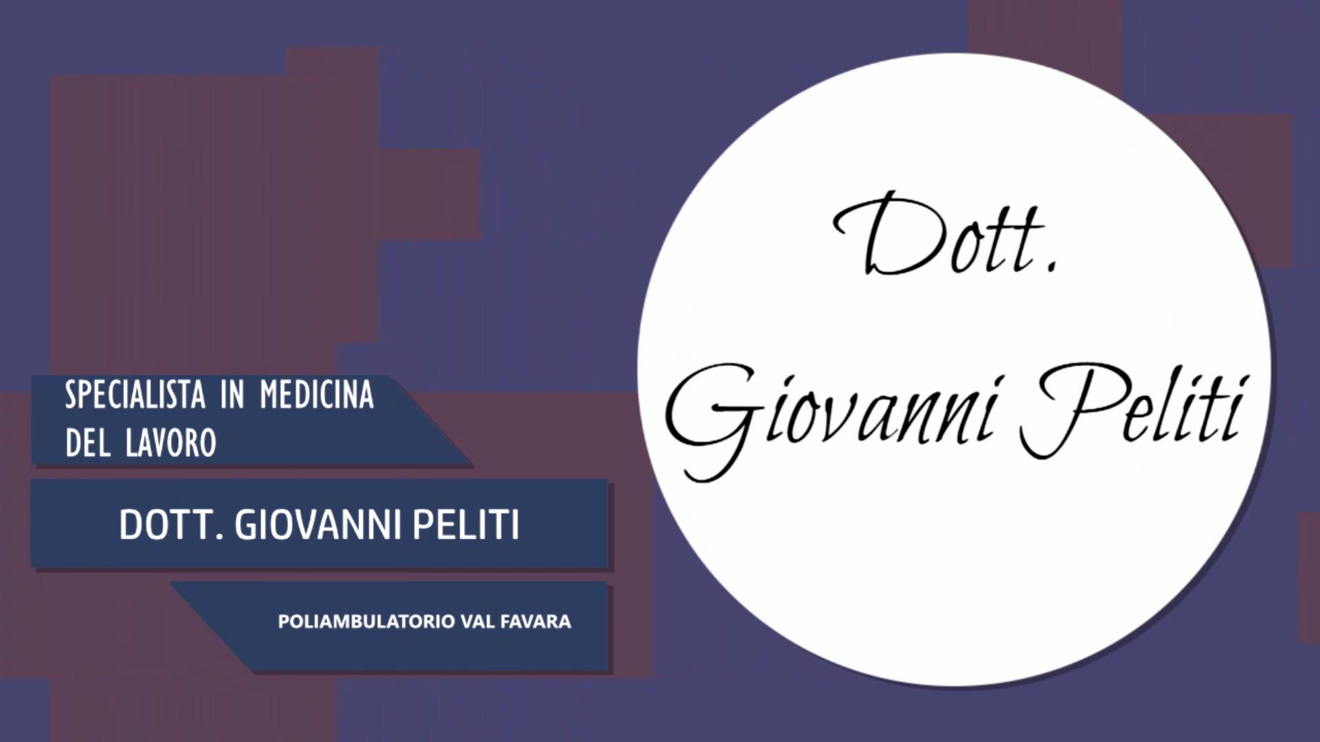 Intervista al Dott. Giovanni Peliti – Poliambulatorio Val Favara