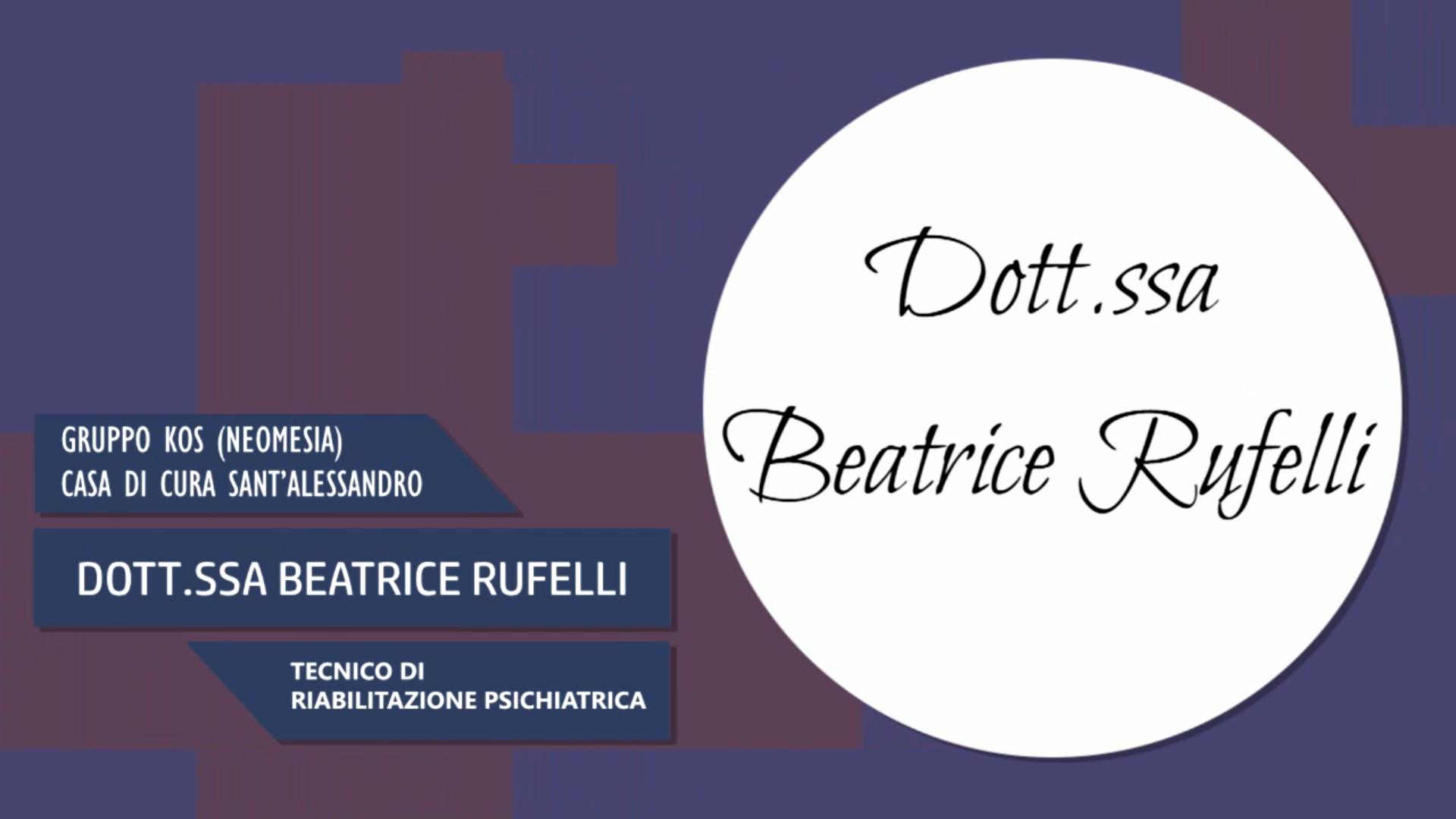 Intervista alla Dott.ssa Beatrice Rufelli – Tecnico di riabilitazione psichiatrica