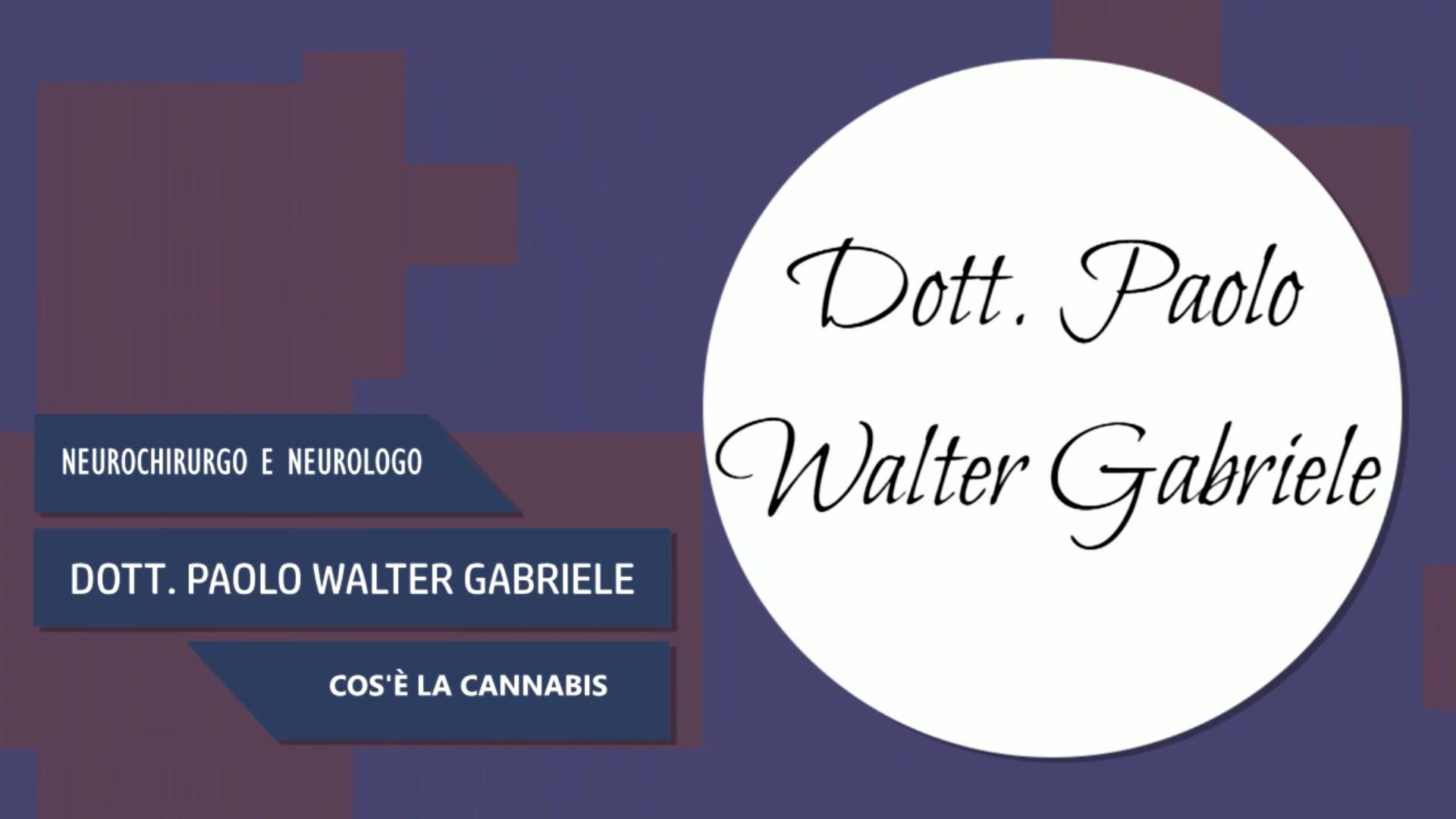 Intervista al Dott. Paolo Walter Gabriele – Cos'è la Cannabis