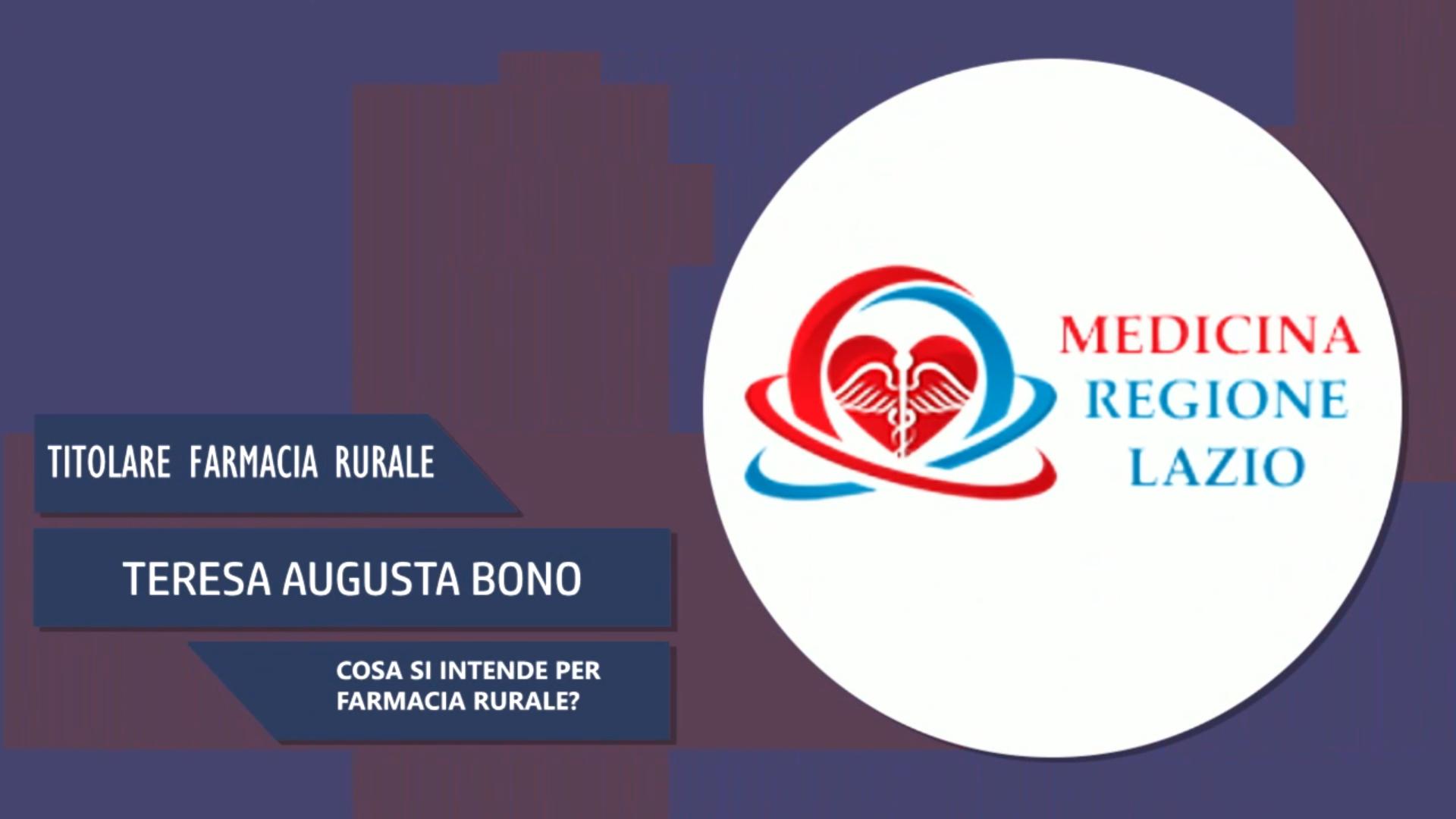 Intervista a Teresa Augusta Bono – Farmacia Rurale