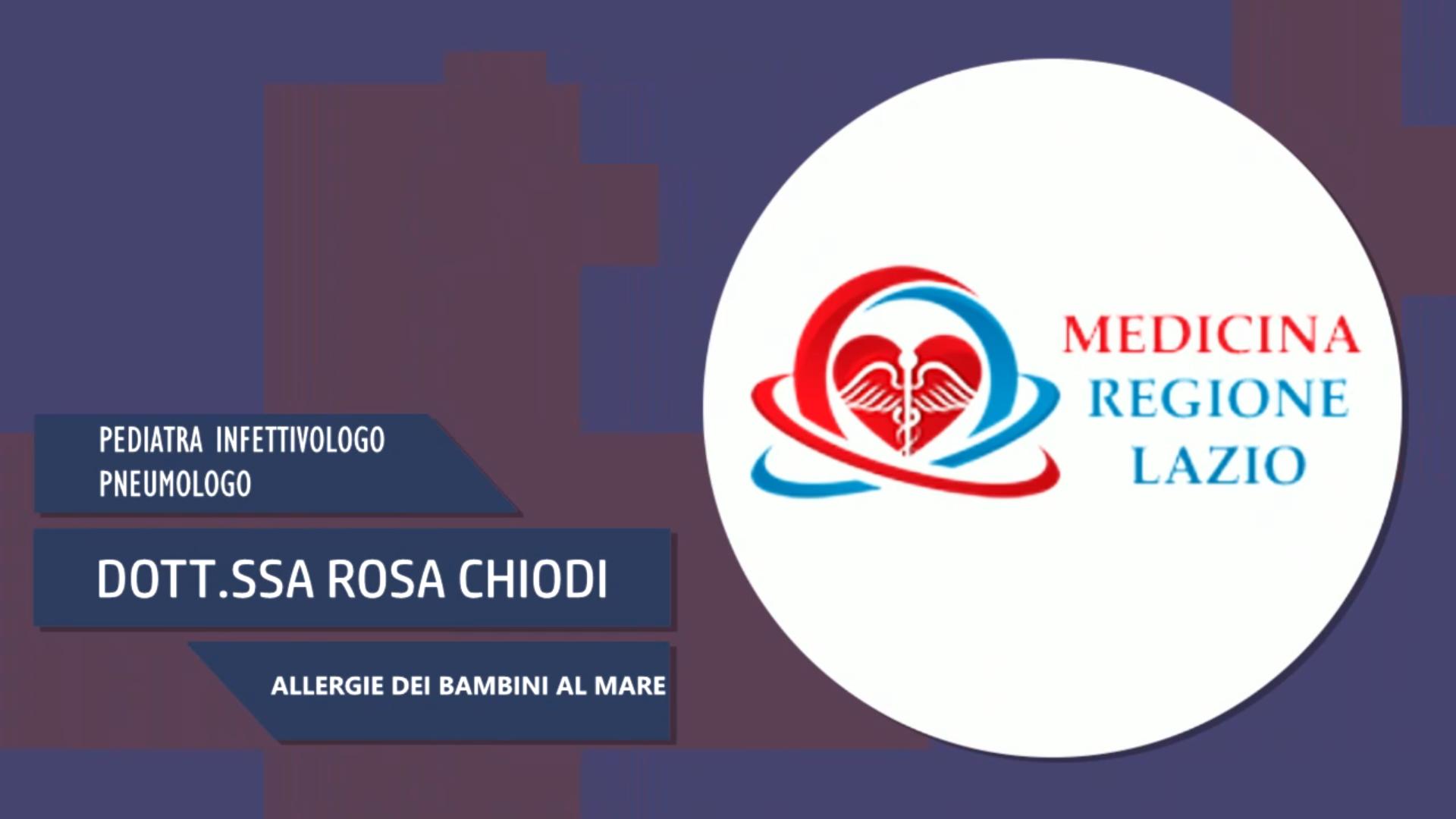 Intervista alla Dott.ssa Rosa Chiodi – Allergie dei bambini al mare