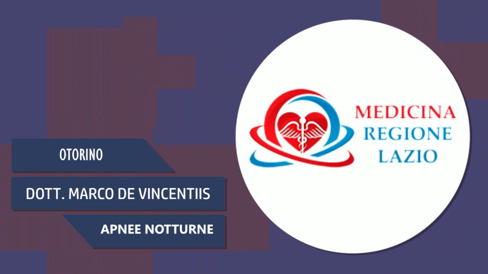 Intervista al Dott. Marco De Vincentiis – Apnee Notturne