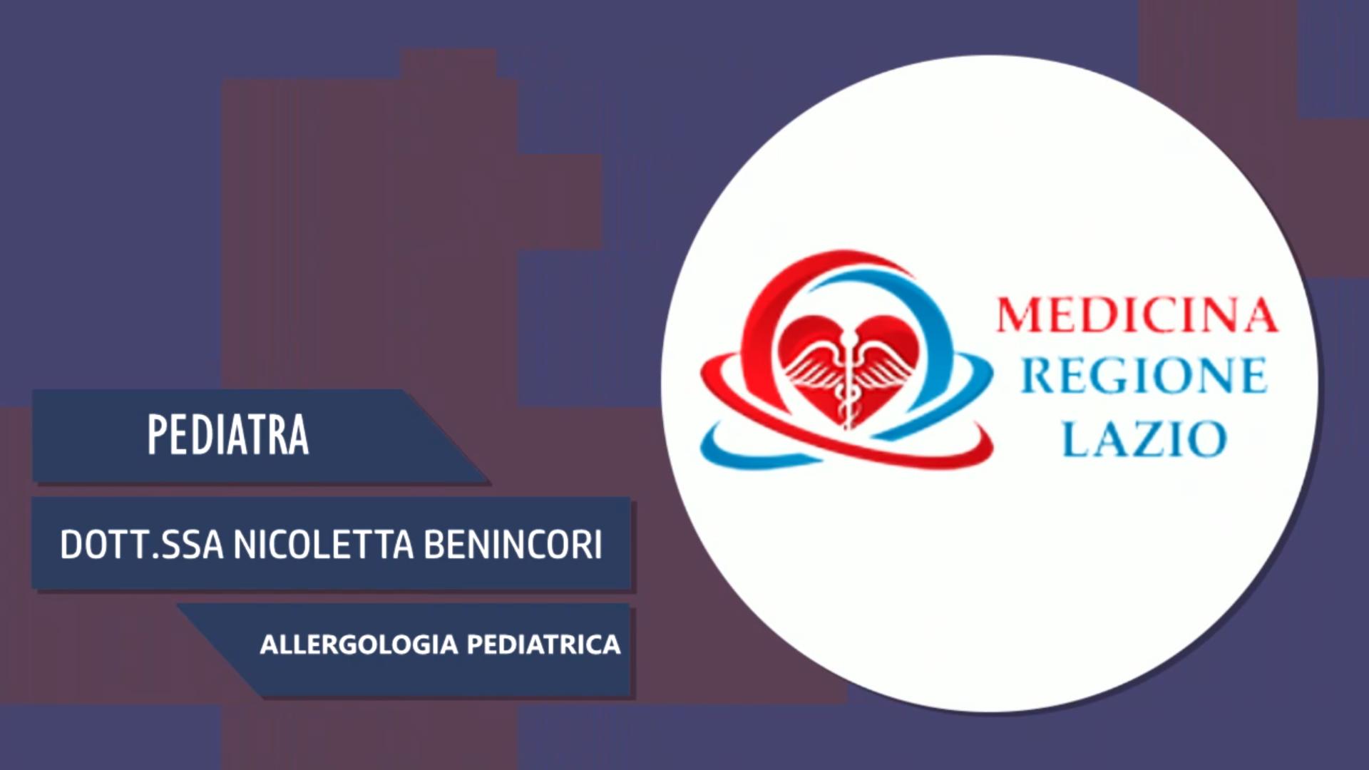 Intervista alla Dott.ssa Nicoletta Benincori – Allergologia pediatrica