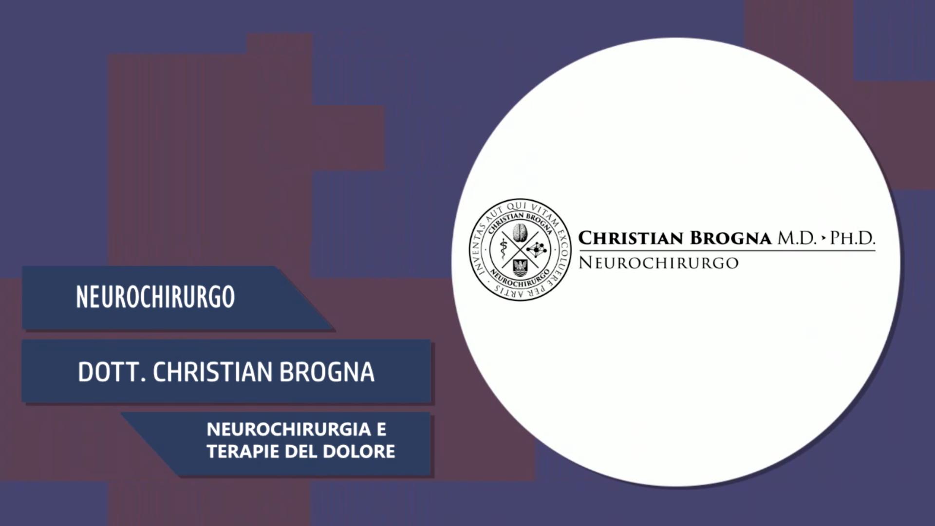 Intervista al Dott. Christian Brogna – Neurochirurgia e terapie del dolore
