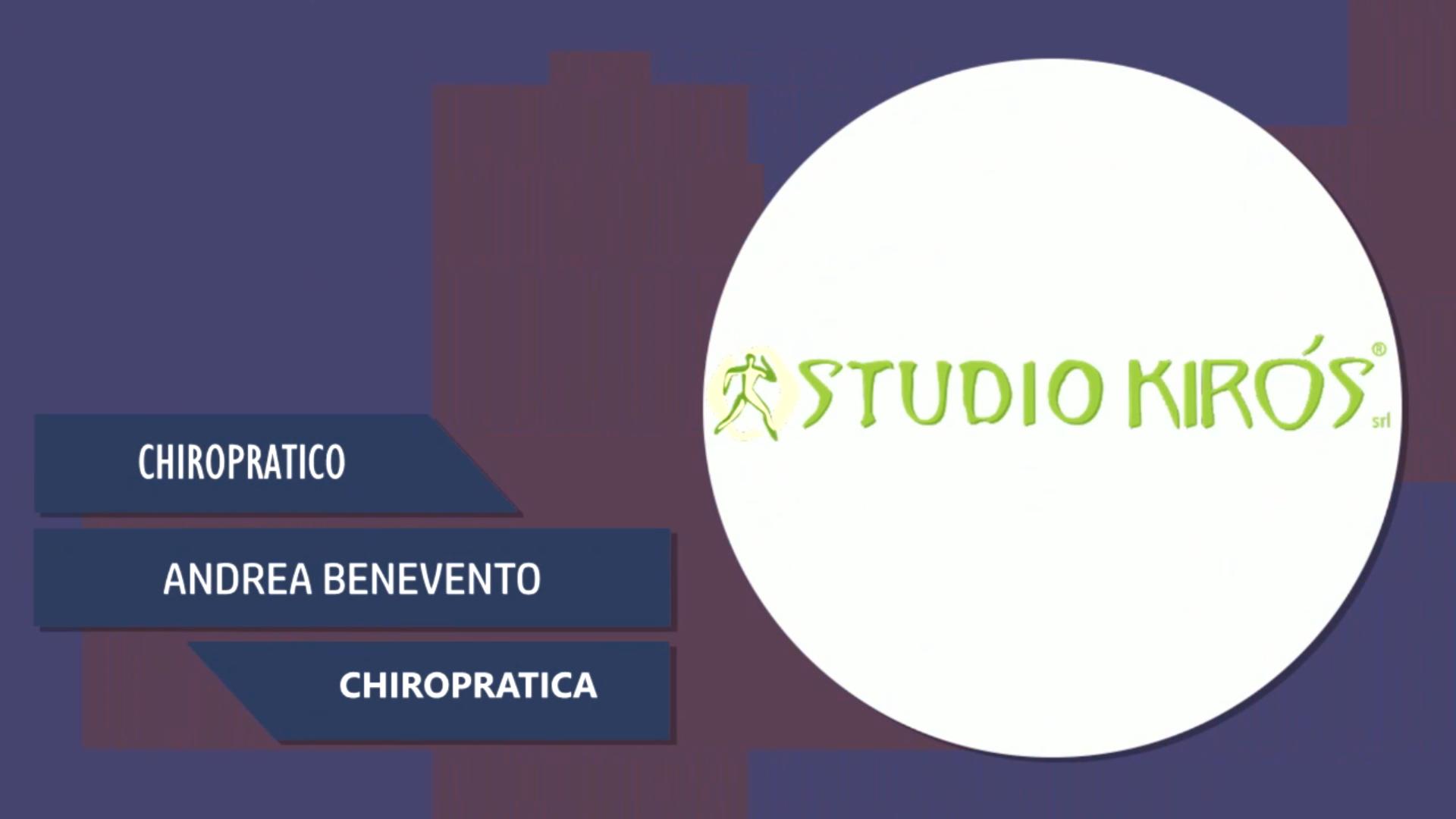 Intervista a Andrea Benevento – Chiropratica