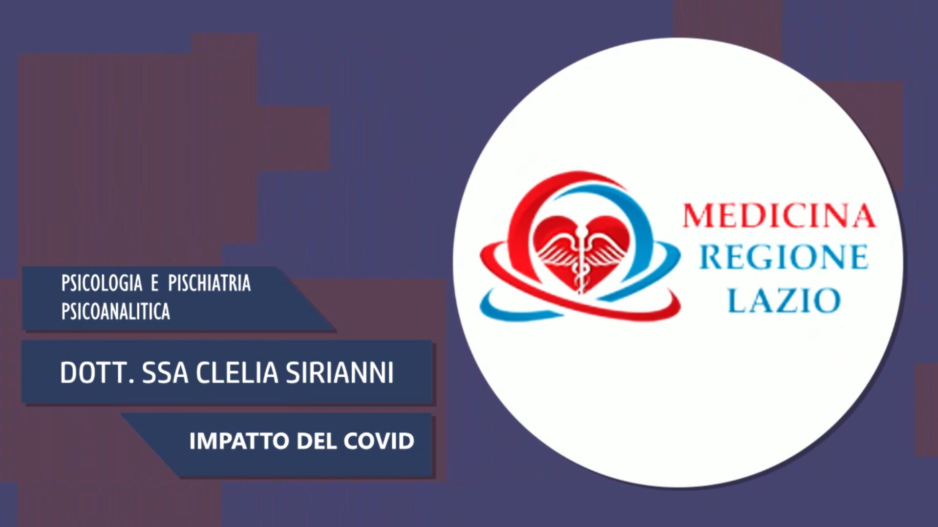 Intervista alla Dott.ssa Clelia Sirianni – Impatto del covid
