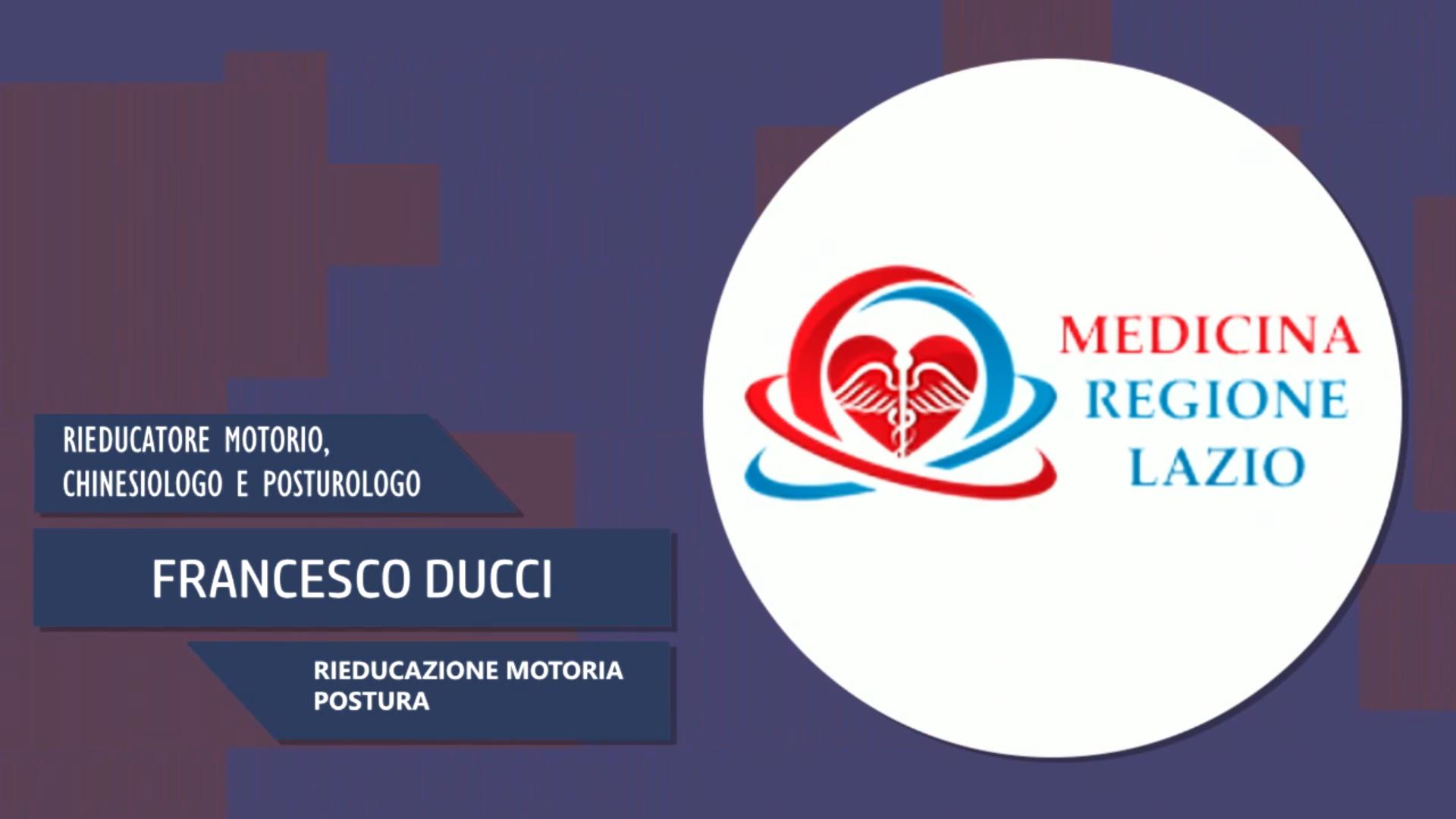 Intervista a Francesco Ducci – Rieducazione motoria postura