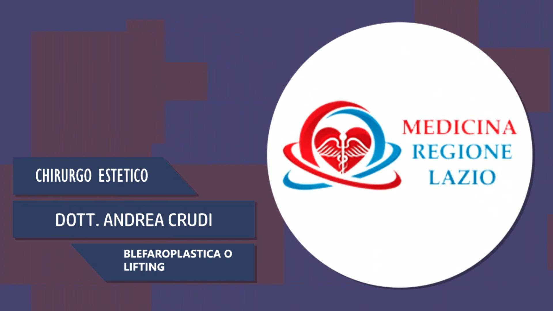 Intervista al Dott. Andrea Crudi – Blefaroplastica o lifting