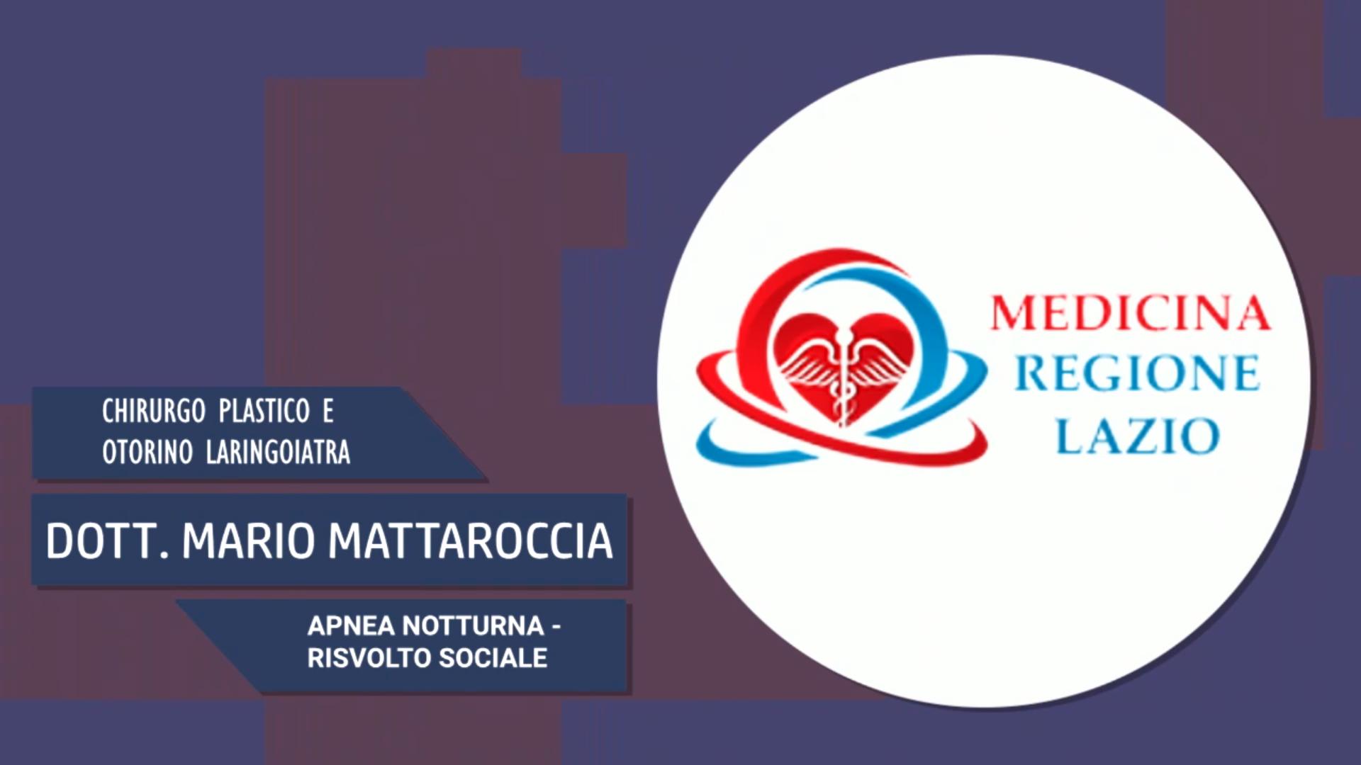 Intervista al Dott. Mario Mattaroccia – Apnea notturna