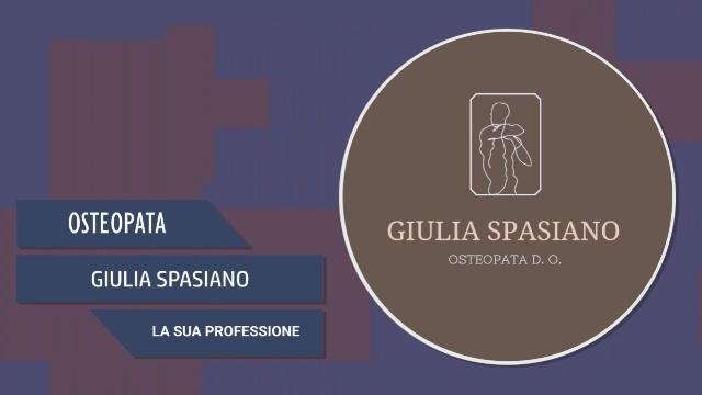 Intervista a Giulia Spasiano – La sua professione
