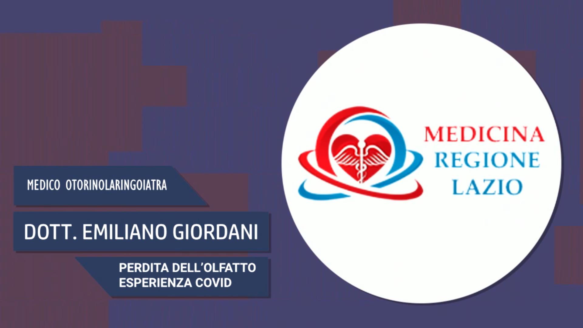 Intervista al Dott. Emiliano Giordani – Perdita dell'olfatto esperienza COVID