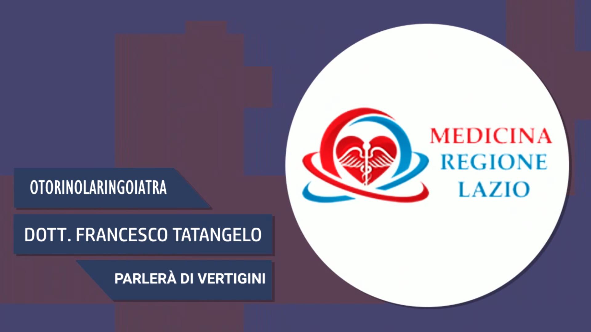 Intervista al Dott. Francesco Tatangelo – Parlerà di vertigini
