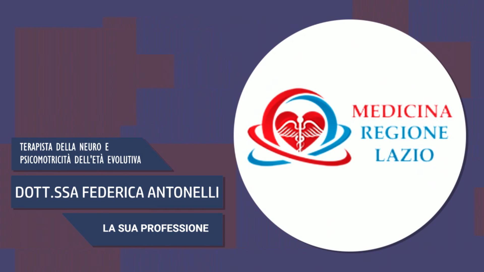 Intervista alla Dott.ssa Federica Antonelli – La sua professione