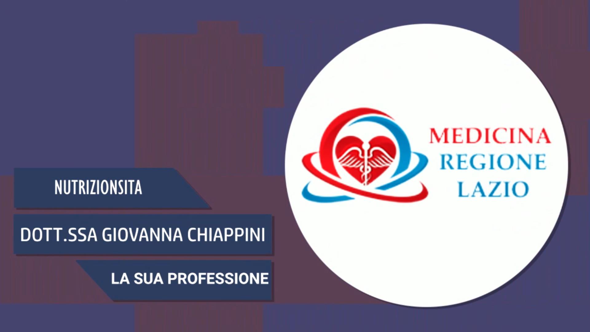 Intervista alla Dott.ssa Giovanna Chiappini – La sua professione