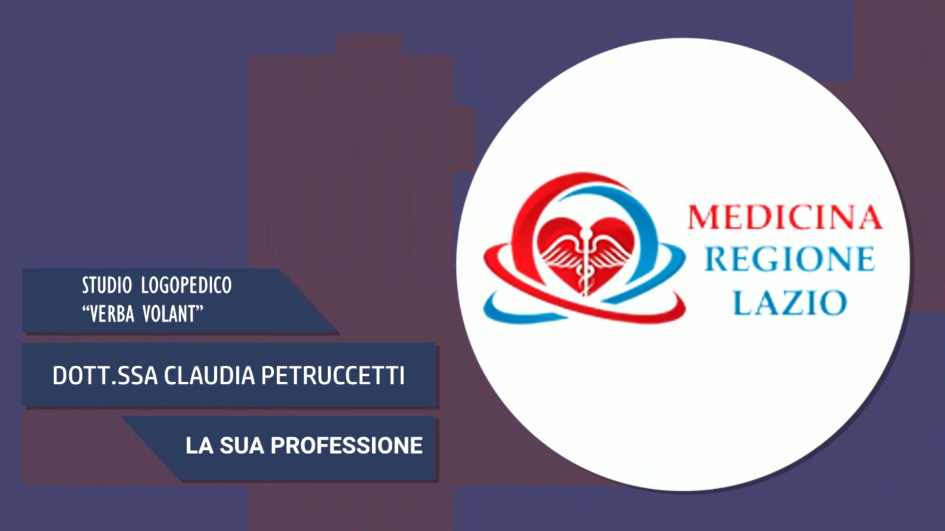 Intervista alla Dott.ssa Claudia Petruccetti – La sua professione