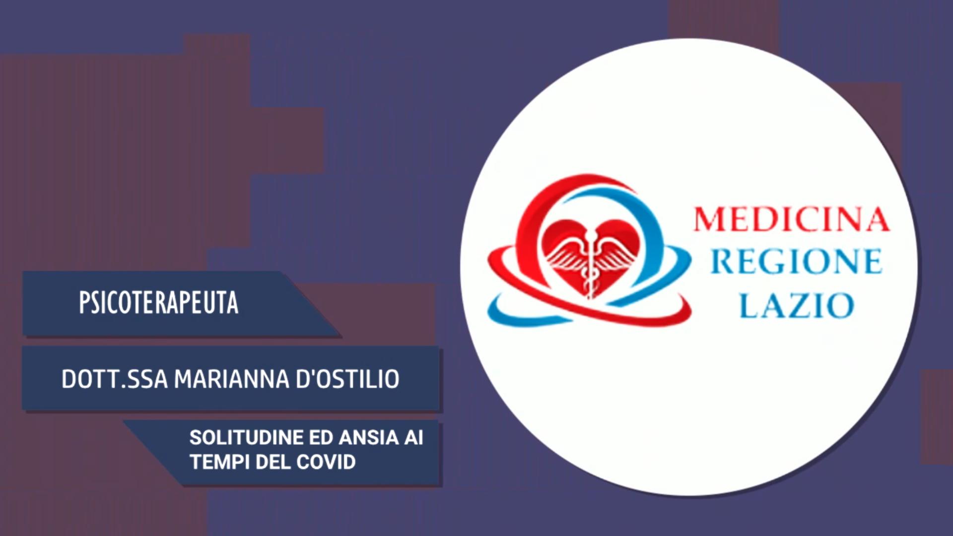 Intervista alla Dott.ssa Marianna D'Ostilio – Solitudine ed ansia ai tempi del Covid
